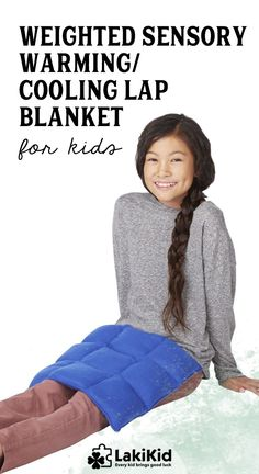 weighted sensory warmingcooling lap blanketpad for kids help with focus and