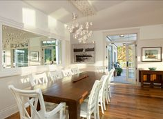 Great ideas for Coastal Dining Room Design.