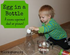 Egg in a Bottle Science Experiment - this is so cool!