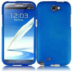 INSTEN For Samsung Galaxy S Note 2 N7100(AT & T) Rubberized Case - Cool Blue