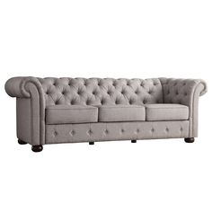 "Kellan 91.25"" Chesterfield Sofa"