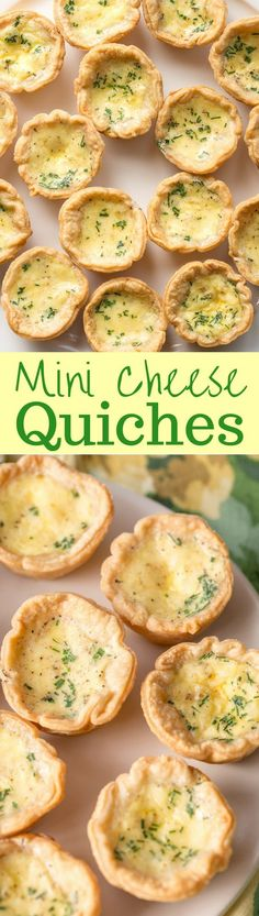 Mini Cheese Quiche Recipe - with a velvety smooth filling, rich flavor and a flaky crust - the perfect appetizer! www.savingdessert.com