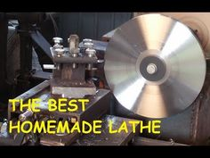 the best homemade metal latheHere is my lathe that I made for my hobbies. i hope you guys like it. Now turning metal Diy Lathe, Wood Lathe, Woodworking Workbench, Woodworking Projects, Lathe Machine Parts, Manual Lathe, Metal Lathe Projects, Homemade Lathe, Welding Cart
