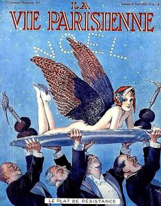 La Vie Parisienne 'Le Plat de Résistance' (The Main Course), Noel cover by Georges Léonnec, December 10, 1932