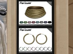 MAXI GOSSAMER ACCESSORIES - collar/earrings, 288L/88L