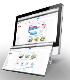 """Efeito final do Email Marketing """"Presente de Natal 2012 da Printi"""" com ilustração de Cartões de visita, Panfletos e Folders"""