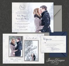 Winter Wedding Invitation Set by Jeneze on Etsy
