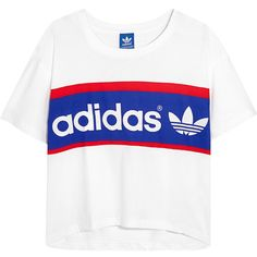 adidas Originals City London printed cotton-jersey T-shirt (2.750 ISK) ❤ liked on Polyvore featuring tops, t-shirts, adidas, tees, summer t shirts, white tee, loose tee, adidas originals t shirt e white summer tops