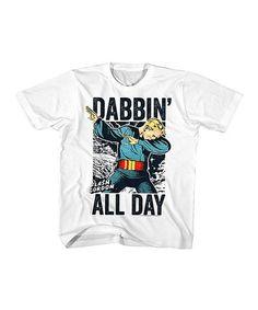 Look at this #zulilyfind! White 'Dabbin' All Day' Tee - Toddler & Kids #zulilyfinds