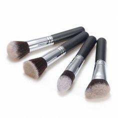 4pcs Fiber Cosmetics Makeup Blush Loose Powder Brush Set - US$8.39