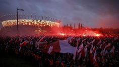 11.11 Des dizaines de milliers de manifestants ont défilé à Varsovie à l'appel de l'extrême droite nationaliste, sous le mot d'ordre «La Pologne aux Polonais, les Polonais pour la Pologne».Photo: Kacper Pempel