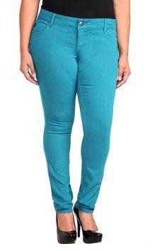 Torrid Denim - Teal Sophia Skinny Jeans #IAmTorrid