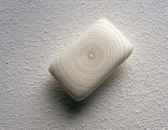 Tom Friedman  A partially used bar of soap inlaid with a spiral of pubic hair