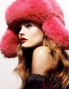 ** Fur trapper hat / beautiful