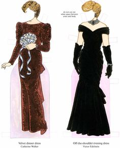 Dover samples Diana, Princess of Wales, Paper Doll: The Charity Auction Dresses