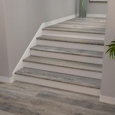 Ash Flooring, Flooring For Stairs, Vinyl Flooring, Laminate Stairs, Floors, Tile Stairs, Oak Stairs, Stairs Vinyl, Wood Stair Treads