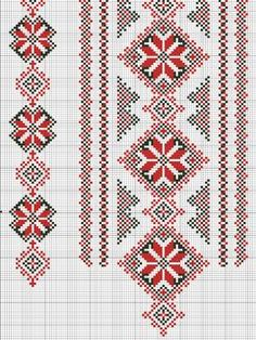 Cross stitching , Etamin and crafts: Traditional cross stitch Pattern Russian Cross Stitch, Cross Stitch Heart, Beaded Cross Stitch, Cross Stitch Borders, Cross Stitch Designs, Cross Stitching, Cross Stitch Patterns, Polish Embroidery, Folk Embroidery