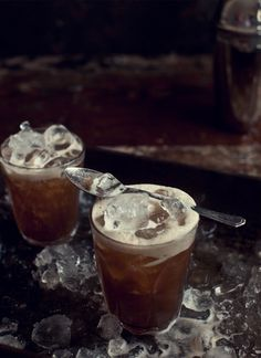 rum with iced coffee