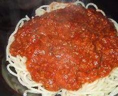 Sauce à spaghetti 1 (Da Giovanni) Cooking Spaghetti, Spaghetti Recipes, Spaghetti Sauce, Pork Recipes, Pasta Recipes, Cooking Recipes, Pickled Olives, Vegan Corn Chowder, Great Recipes