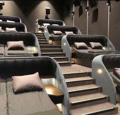 Home Theater Room Design, Home Cinema Room, Home Building Design, Home Theater Rooms, Home Room Design, Dream Home Design, Modern House Design, Home Interior Design, Modern Interior