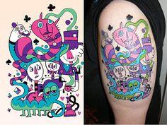 i love Jon Burgerman!  i want some of his artwork on my body