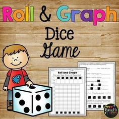 This math dice game for kids includes graphing and questions. It is a great math station activity and is a no prep printable for your 1st or 2nd graders. Click here to purchase today! #dice #game #2ndgrade #math Slumber Party Games, Birthday Games, Outdoor Games For Kids, Games For Teens, Dice Games, Math Games, Maths, First Grade Math, Second Grade