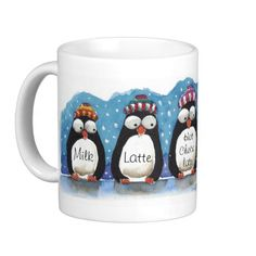 Enjoy your favorite drink in this cool winter mug