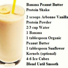 Banana Peanut Butter #Protein Shake with #Arbonne  protein mix. <3