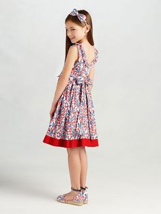 Kids Girls Tweed Flippy Skater Dress Sleeveless Party Dresses Ages 4-14 Years