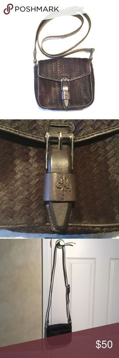 Cole Haan brown pony-skin cross body bag. Classic Cole Haan authentic brown pony-skin small cross body bag. Excellent condition. Like new - not a scratch! Cole Haan Bags Mini Bags
