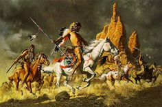 The Comanche. They spoke a Shoshonean language, obtained horses in the 17th century, and were regarded as the best horsemen of the American Plains. A truly nomadic people, they centered on the North Platte river, later moving south to headwaters of the Cimarron, Brazos, red and Canadian rivers. They often allied with the Kiowas, and were the last to accept reservation life when Quanah Parker and the Kwahadi band surrendered in 1875. In 2001, only 250 elderly were still fluent in their…
