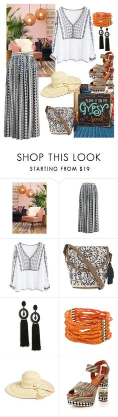 """""""Gypsy Soul🌼🌞🍃"""" by parnett ❤ liked on Polyvore featuring Chicwish, Accessorize, Oscar de la Renta, Curvy Chic, Rip Curl and Glamorous"""