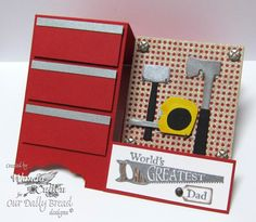 Side Step Tool Chest by cullenwr - Cards and Paper Crafts at Splitcoaststampers