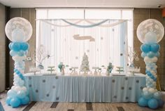 Head Table from a Winter ONEderland Birthday Party via Kara's Party Ideas KarasPartyIdeas.com (34)
