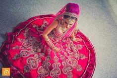 Hot pink bridal lengha - Studio Orange