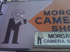 Morgan Camera Shop sign. Sunset Blvd.