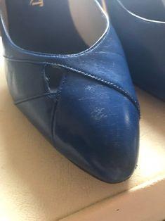 Vintage Royal Blue Court Shoes Pumps Slip Ons | Etsy Pump Shoes, Ballet Shoes, Pumps, Blue Court Shoes, Wine Shoes, Blue Stilettos, Leather High Heels, Beautiful Shoes, Deep Blue