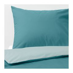 IKEA - DVALA, Duvet cover and pillowcase(s), Twin, , Made in 100% cotton, a natural and durable material that becomes softer with every wash.Concealed snaps keep the comforter in place.