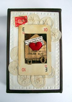 Small original mixed media altered art collage on by artangel