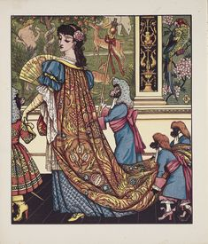 Title:美女と野獣 Beauty and the Beast Artist:ウォルター・クレイン Walter Crane Walter Crane, Most Popular Fairy Tales, Art Nouveau, Art Deco, Children's Book Illustration, Book Illustrations, Figure Painting, Faeries, Beauty And The Beast