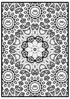 Smile it's free - Free Mandala Coloring Images To color this images it's your chose. But to smile is a must.