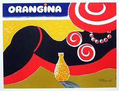 Orangina poster 90's