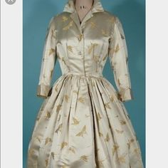 Vintage Dynasty lord and Taylor dress Vintage Dynasty Lord and Taylor silk embroidered butter flies 1960s. Dress little pull on  shoulder,. Amazing dress( vintage size 12) so it's 4-6 size now Vintage Dresses Midi
