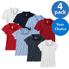 4c1ceb9ba Approved Schoolwear Kids' Short Sleeve Polo, 4 Pack - $15.88! Today Only!