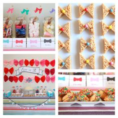 Bow Tie Birthday Party Menu | and a whole lineup of other yummy sweets and treats…