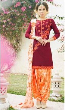 Maroon Color Cotton Straight Cut Casual Wear Punjabi Patiyala Dress   FH542081417 Follow Us @heenastyle <<<< #indianfashion #traditional #indianhub #indiancouture #weddingday #punjabiwedding #royalwedding #indianwedding #weddingbells #bridesmaids #weddingdress #indianfashionista #indianfashionista #traditional #thailand #france #dubai #london #punjaban #saree #gown #lehenga #punjaban #punjabidress #punjabisuit #classy #royalwedding #girlie #mumbai #mumbaibased #indiabased #ordernow…
