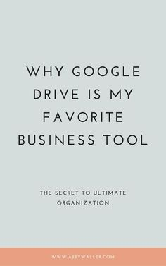 Google Drive is one of my favorite business platforms by far, and it stores the majority of my content for my business. It is a tool that keeps me organized Business Planning, Business Tips, Online Business, Personal Financial Management, Job Interview Tips, Creating A Business, Business Inspiration, Virtual Assistant, Management Tips