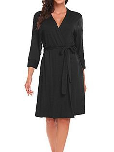 749779e610 BLUETIME Women Robe Soft Kimono Robes Cotton Bathrobe Sleepwear Loungewear  Short