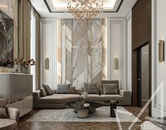 Dining room with Neo-classic style on Behance Luxury Interior Design, Interior Design Living Room, Living Room Designs, Interior Architecture, Decor Home Living Room, Master Bedroom Design, House Rooms, Luxury Living, House Design