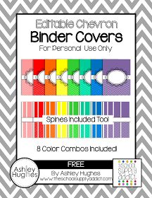 Blog Hoppin': Free Binder Covers for Color Coding... or Whatever.